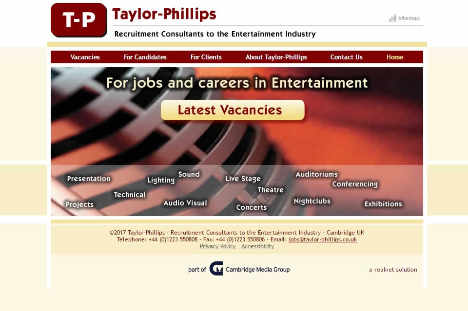 Joining Cambridge Media Group in June 2005 is entertainment technology industry recruitment consulta...